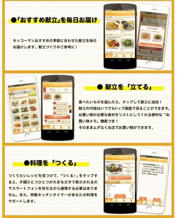 キッコーマンアプリ紹介